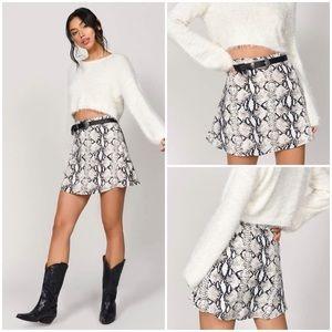 Tobi Love Sadie Western Snake Skin Print Skirt